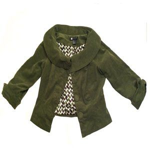 Carole Little Corduroy Shawl Collar Jacket Sz 6